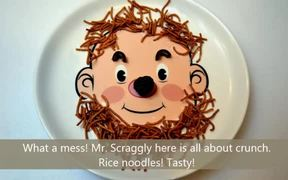 Food Face Dinner Plate for Kids