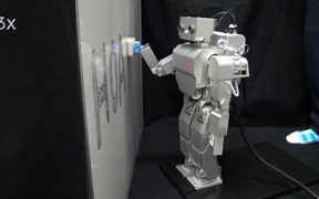 Humanoid robot learns to clean a whiteboard