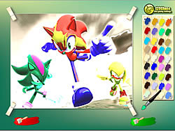 Sonic Coloring Game - Play online at Y8.com