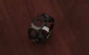 Black Zirconium Wedding Bands by Spexton Jewelry
