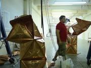 Robotic Formed Copper Pavilion