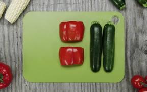 Grilled Summer Zucchini Succotash