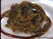 Sauteed Soft Shell Crab with Polenta