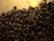 Coffee Beans Fast Fall in Macro View