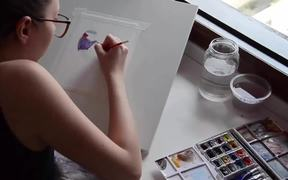 Watercolor Bird - Time Lapse Painting
