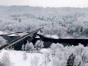 Winter Wonderland Aerial Video
