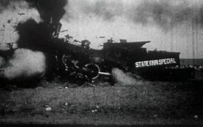 Locomotives Crash Head-On