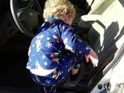 Toddler Tries to Drive Car to the Store