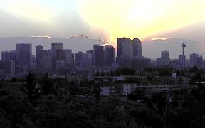 Calgary Sunrise in Time Lapse