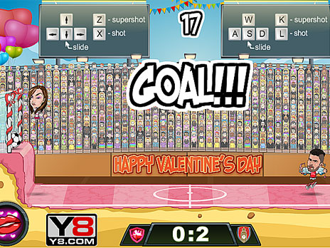 Football Legends Valentine Edition Game Play Online At Y8 Com