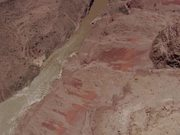 Grand Canyon NP: Detail of Inner Gorge, River