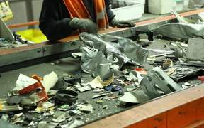 Electronic Waste on Conveyor Belt