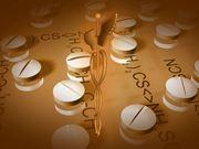 Twirling Medical Symbol & Pills