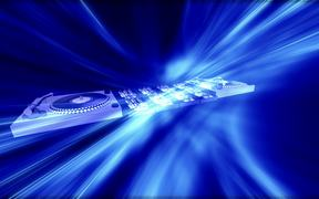 Animated Turntable & Equalizer Blue