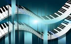 Double Flowing Piano Keys