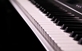 Piano Keys Track Along Close Up