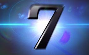 Futuristic Numbers Countdown Close Up