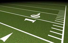 Football Field Tracking Shot
