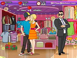 Shopping Mall Kissing Game - Play online at Y8.com