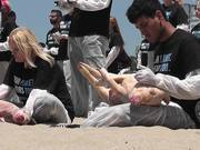 Dead Animal Protest Santa Monica on May 31, 2014