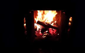 Fireplace in Full HD & Violin Concerto by Bach