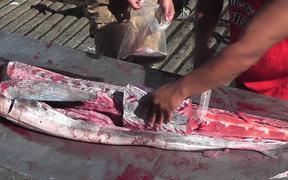 Swordfish Cutting Up Close Up Cabo San Lucas