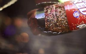 Big Red Video: Big Red BBQ Bottle