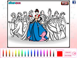 Disney Princess Coloring Game Game - Play online at Y8.com