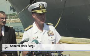 USS Carney reaches the Naval base Rota