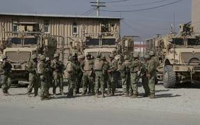 Georgians take over Security at Bagram