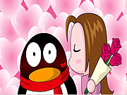 QQ Penguin: Rose