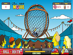 Simpsons The Ball Of Death Game Play Online At Y8 Com