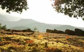 A Mountain Landscape Over The Sunshine