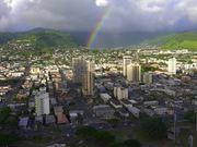 Rainbow Over Downtown Honolulu