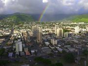 Rainbow Over Downtown Honolulu