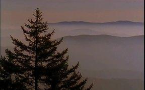 Mountain Scenery at Dusk