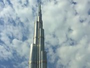 Top to Bottom Pan Shot of the Burj Khalifa