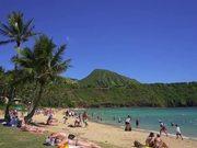 Panning Beach Shot in Hawaii