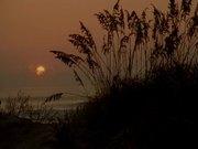 Sea Waves at Sunset