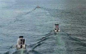 Boats Leaving The Marina