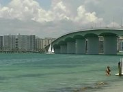 Sailing Under Sarasota Bridge