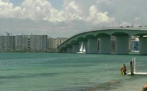Sailing Under Sarasota Bridge