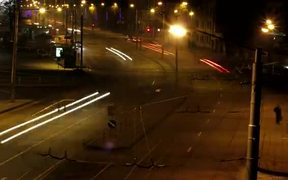 Night Traffic Fast Motion