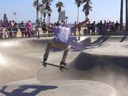 Skater at Venice Beach Skatepark