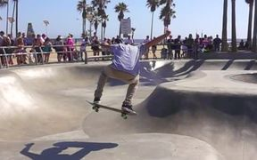 Skater at Venice Beach Skatepark