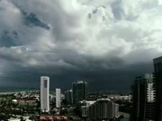 Heavy Storm Over a City
