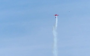 Slow Motion Stunt Plane