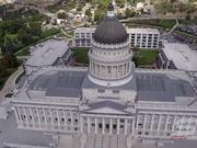 Utah State Capitol Building aerial view HD
