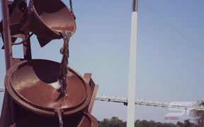 Monument to Labor Sculptor in Slow Motion