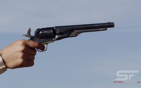 Slow Motion View of Old Pistol Firing